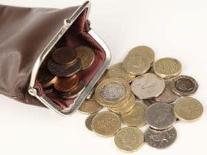 Money in your pocket or purse