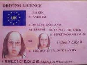 Scam Harrison Dvla License David Warn - Of