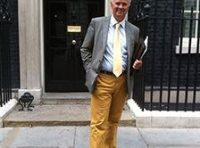 David outside Number 10 Downing Street