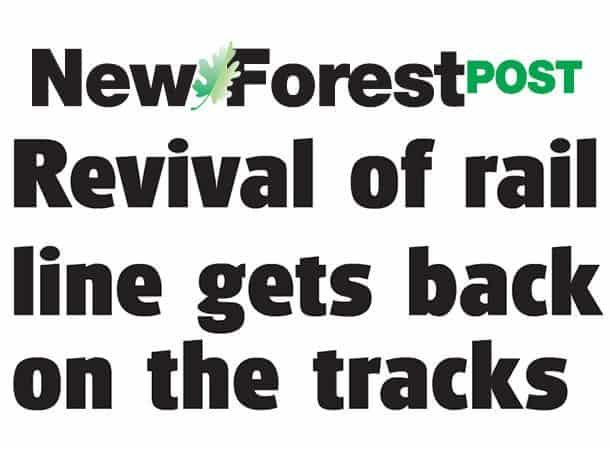 newspaper cutting Revival of rail line gets back on the tracks