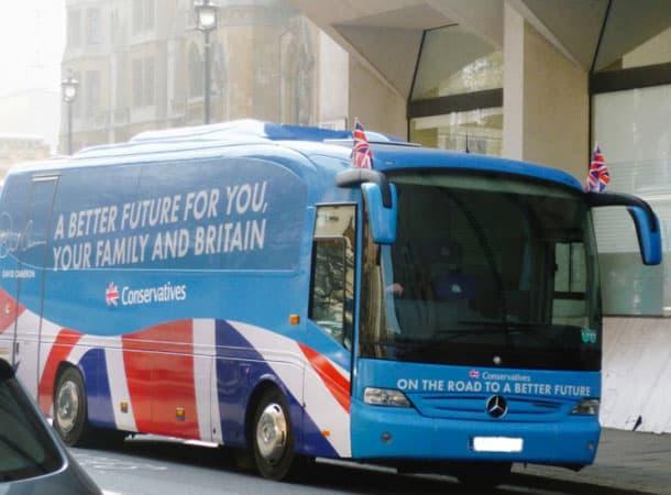 election - tory battlebus