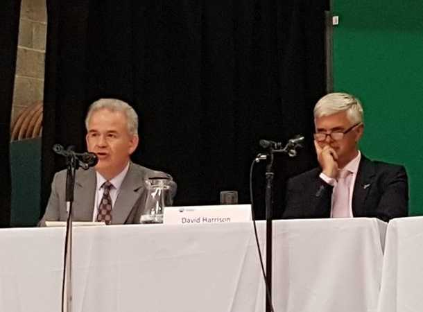 Julian Lewis and David Harrison on the General Election Hustings