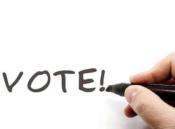 Handwritten, word vote