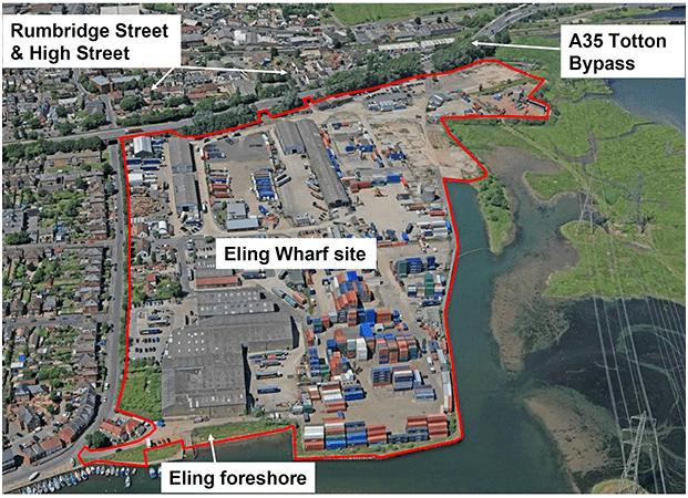 Eling Wharf Map