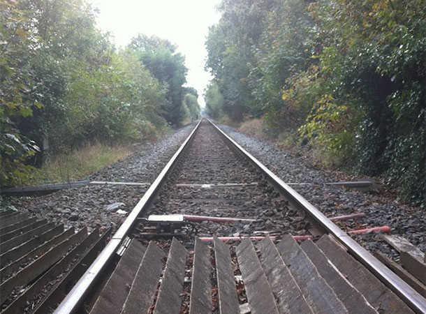 Railway tracks at Jacobs Gutter Lane