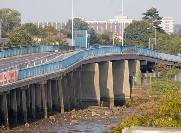 viaduct -Redbridge Causeway - image:geograph.org