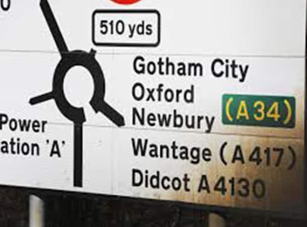 sign - for Gotham City