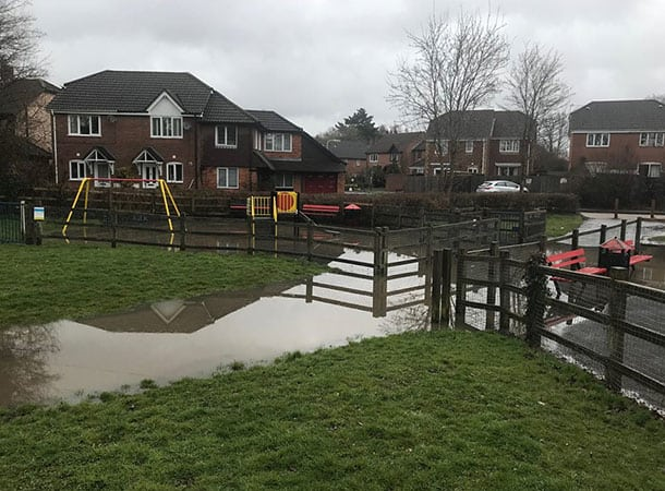 flooding in playground