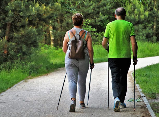 Benefits of activity - Nordic Walking