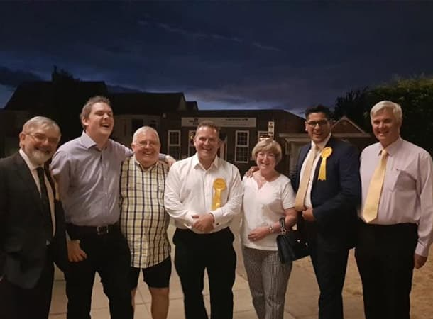 Craig Fletcher And His The Lib Dem Team