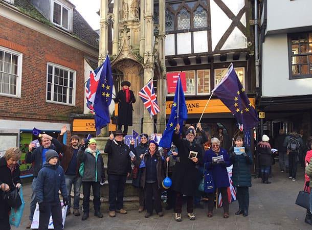 2nd-Referendum-Image Courtesy Hampshire Chronicle Eu Campaigners