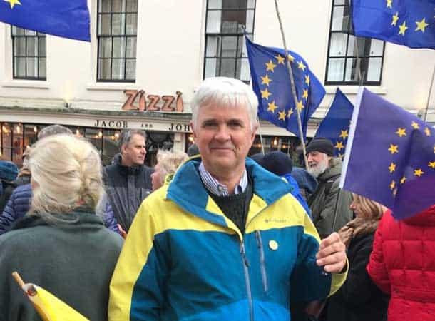 referendum? David At A Brexit March