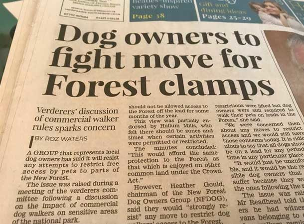 Dog Owners To Fight Move For Forest Clamps