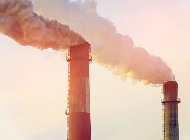 Catastrophic - Chimneys Emitting Carbon Dioxide