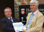 David handing in a petition to Hampshire County Council