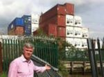 Containers at Eling Wharf